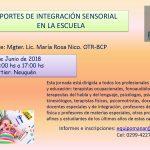 Jornada de Integración Sensorial en Neuquén   JUNIO 2018